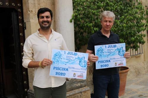 El concejal-delegado de Deporte, José Manuel Arancón García, y el técnico municipal de Deportes, Manuel Márquez Agenjo