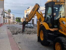 Renovación del pavimento en la calle San Fernando (Fase II) de Lora del Río