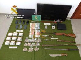 Incautación droga y armas