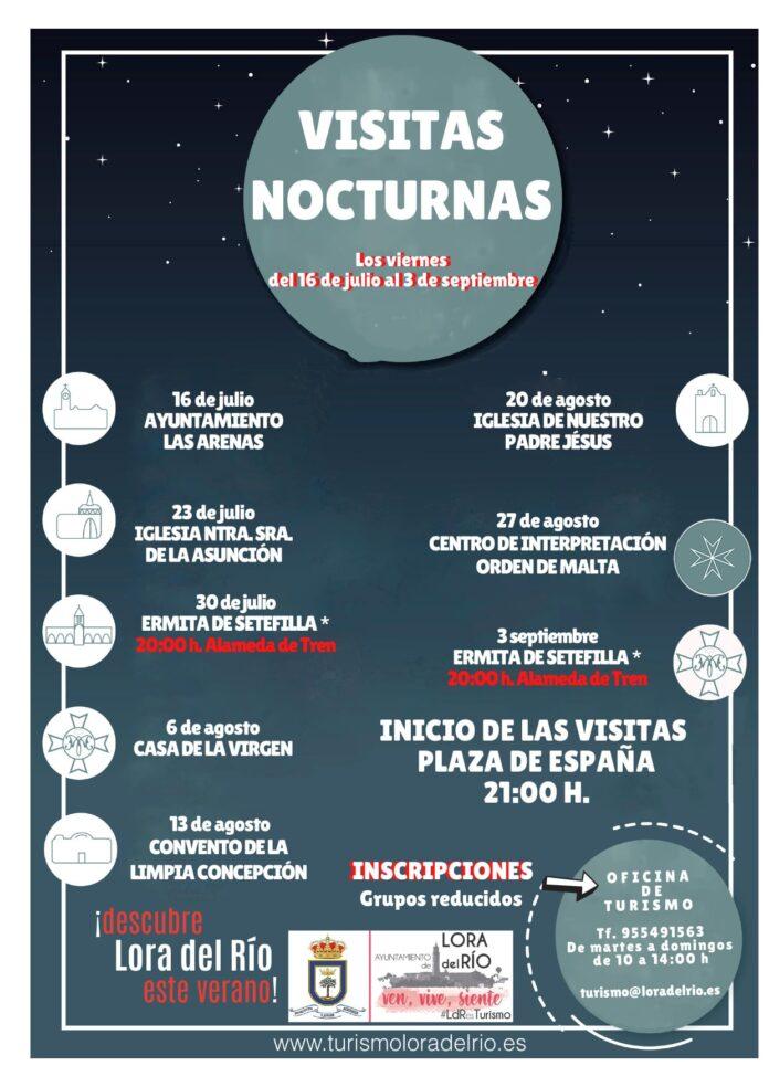 El Ayuntamiento de Lora del Río vuelve a poner en marcha los viernes las visitas nocturnas a edificios y monumentos de la localidad