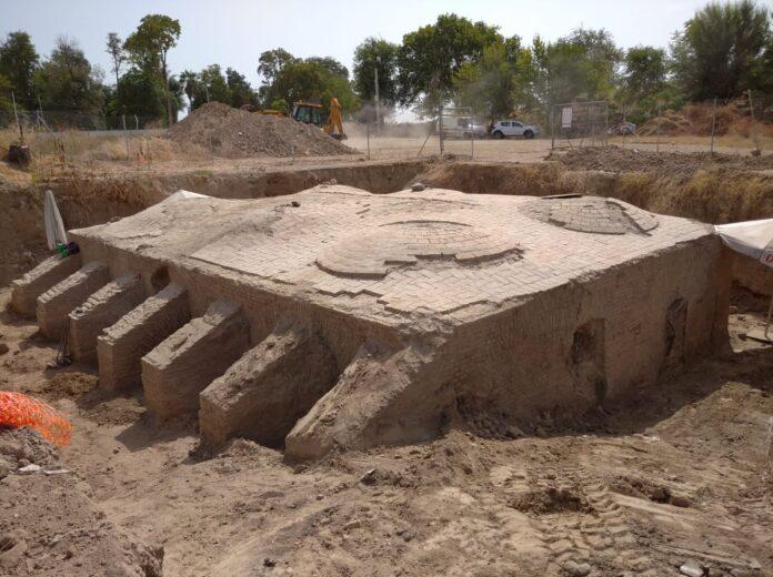 Los trabajos arqueológicos en torno a la aceña continúan su curso según lo previsto en el proyecto de recuperación
