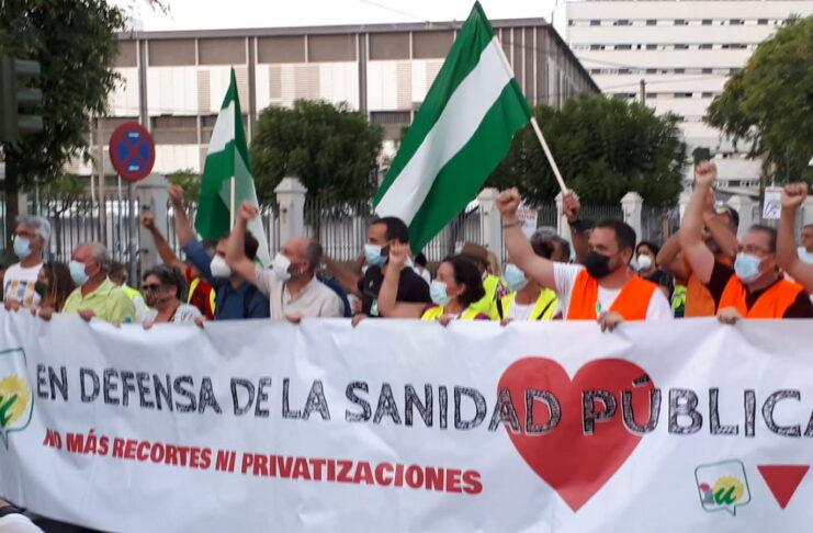 La marcha en defensa de la Sanidad Pública llega al Parlamento Andaluz